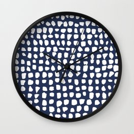 Dots / Navy Wall Clock