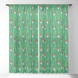 Gnomes Sheer Curtain