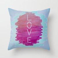 xoxo Throw Pillows featuring XOXO by Samantha Reichert