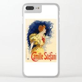 Belle Epoque vintage poster, Camille Stefani Clear iPhone Case