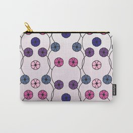 Blue and purple flowers. Carry-All Pouch