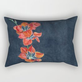 Gash Gold Vermilion Rectangular Pillow