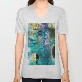 """""""Fall Faces: Camille"""" Unisex V-Neck"""