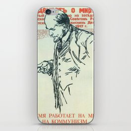 Russia, URSS Vintage poster iPhone Skin