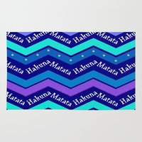 hakuna Area & Throw Rugs featuring Hakuna Matata by Stay Inspired