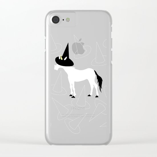Witch Hat Unicorn Clear iPhone Case