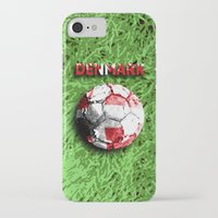 denmark iPhone & iPod Cases featuring Old football (Denmark) by seb mcnulty