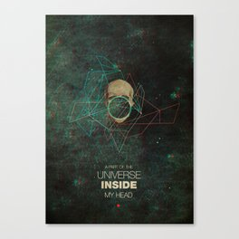 A Part Of The Universe Inside My Head Canvas Print