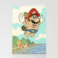 super mario Stationery Cards featuring Super Mario! by Ismael Álvarez