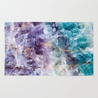 crystals Area & Throw Rugs featuring crystals  by lokyic
