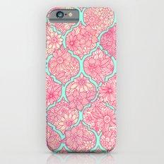 Moroccan Floral Lattice Arrangement in Pinks iPhone 6 Slim Case