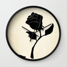 Silhouetted Rose Wall Clock