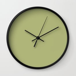 Sage green: Color of Year 2015 ( Classic Color ) Wall Clock