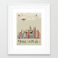 england Framed Art Prints featuring visit london england by bri.buckley