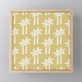 Palm Tree Pattern Light Gold 2 Framed Mini Art Print