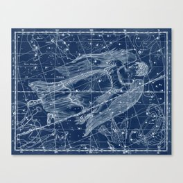 Virgo sky star map Canvas Print