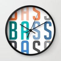 bass Wall Clocks featuring BASS BASS BASS by DropBass