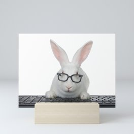 Smart Bunny Mini Art Print
