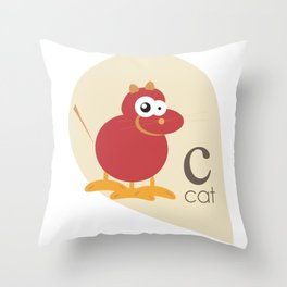 Scat cat Throw Pillow