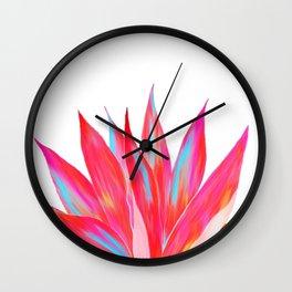 Sunny Agave Fringe Illustration Wall Clock