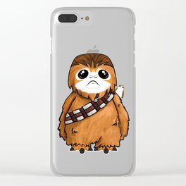 Porg-bacca! Clear iPhone Case