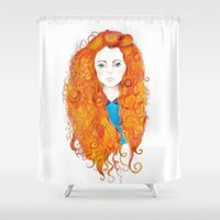 be brave Shower Curtains featuring Brave by FeliciaR