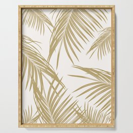Gold Palm Leaves Dream #1 #tropical #decor #art #society6 Serving Tray