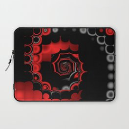 TGS Fractal Abstract in Red and Black Laptop Sleeve