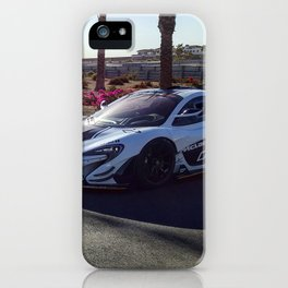 McLaren's Chris Goodwin and McLaren P1 GTR iPhone Case