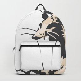 I get lockdown. But I get up again - Banksy Graffiti Backpack
