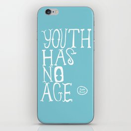 Youth Has No Age (Blue) iPhone Skin