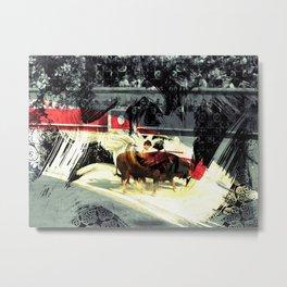 Madrid Bull Fight Metal Print