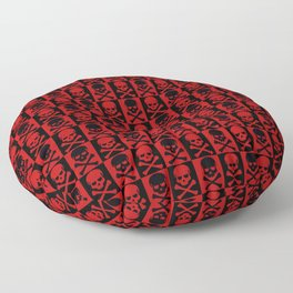 Red Skulls Floor Pillow