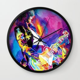 Watercolor my Jimmy Wall Clock