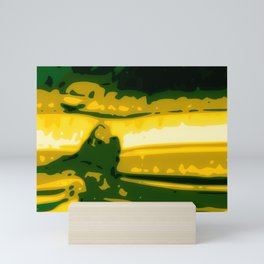 Eye of Tiger Yellow - Green Abstract Vector Texture Mini Art Print