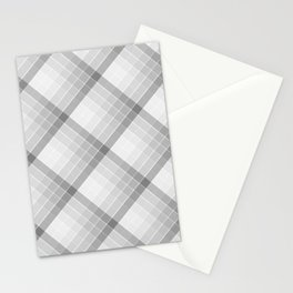 Gray Geometric Squares Diagonal Check Tablecloth Stationery Cards