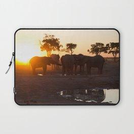 Elephants at Sunset Laptop Sleeve