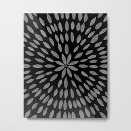 Mandala Flower #2 #silver #drawing #decor #art #society6 Metal Print