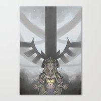 legend of zelda Canvas Prints featuring Zelda by hachiyuki