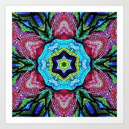 Tulip Mosaic Abstract Art Print
