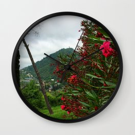 The Flowers Mountain Wall Clock