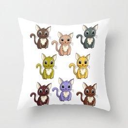 Who said meow? Throw Pillow