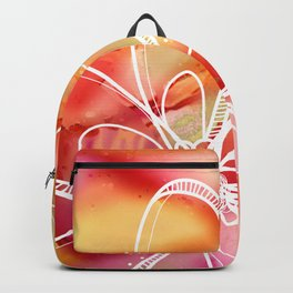 Abstract Pink Galaxy Flowers Backpack