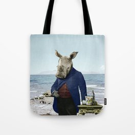 Mr. Rhino's Day at the Beach Tote Bag
