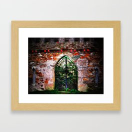 Ireland Dublin Door.  Secret Garden.  Irish Landscape Photography Framed Art Print