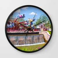 dumbo Wall Clocks featuring Dumbo Ride by ThatDisneyLover