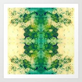 214 - Digital Ink blot design Art Print