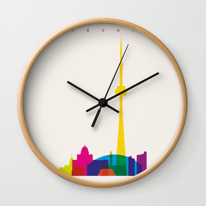 Shapes Of Toronto Accurate To Scale Wall Clock By Glengould Society6