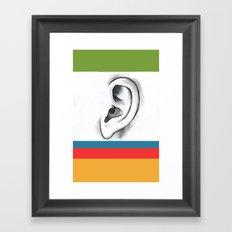 I am listening  Framed Art Print