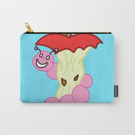Sad Food - Happy Worm by Squibble Design Carry-All Pouch